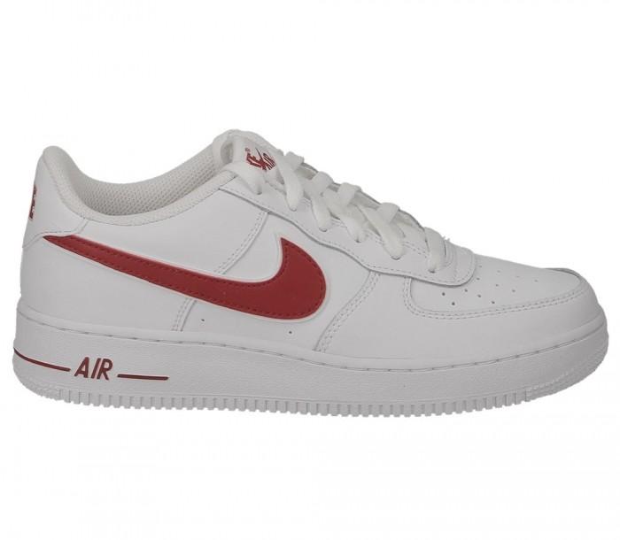 Nike Air Force 1-3 Gs AV6252 101 White Gym Red