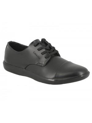 Chaussures Calvin Klein Darwin en nylon et cuir bleu marine.