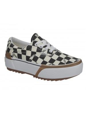 Basket Vans Era Stacked Checkerboard Multi True White Black VN0A4BTOVLV