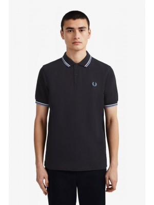 Fred Perry Twin Tipped Shirt Navy Sw Riviera M3600 J88