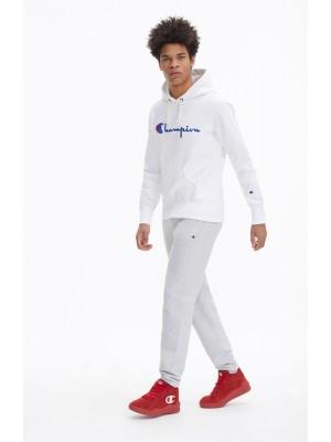 Sweatshirt Champion Europe hooded  big logo 212574 S19 WW001 WHT blanc
