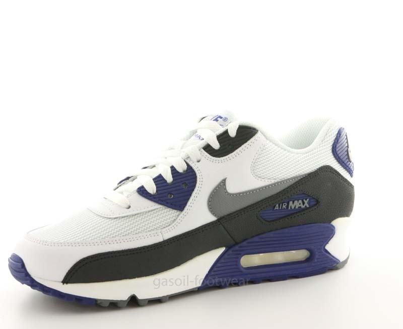 ... nike air max 90 essential white royal blue ...
