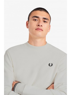 Fred Perry crew neck sweatshirt M7535 129 Snow White
