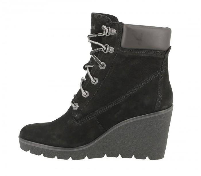 Timberland women TB 0A1RMU 001 Paris Height boot black nubuck