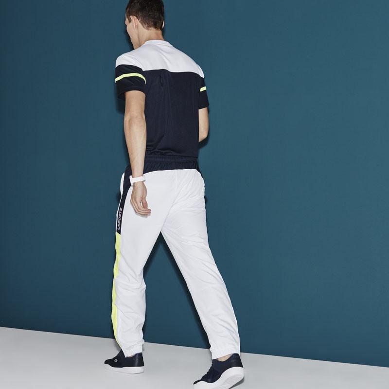 a7c1c88a4a0 Pantalon De Survêtement Lacoste XH5784 jf6 blanc marine jaune vente ...