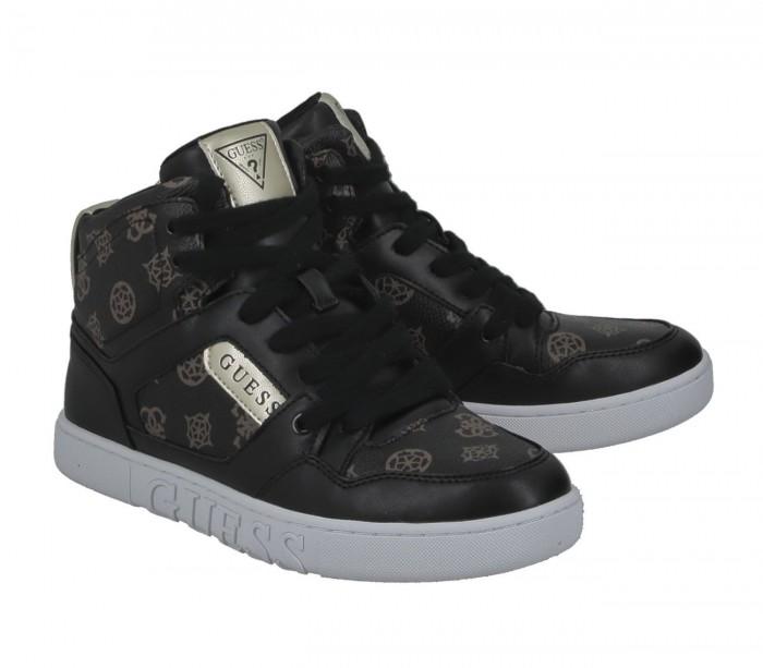 Basket dame Guess Justis2 Brown Black FL5JS2FAL12 BROBL