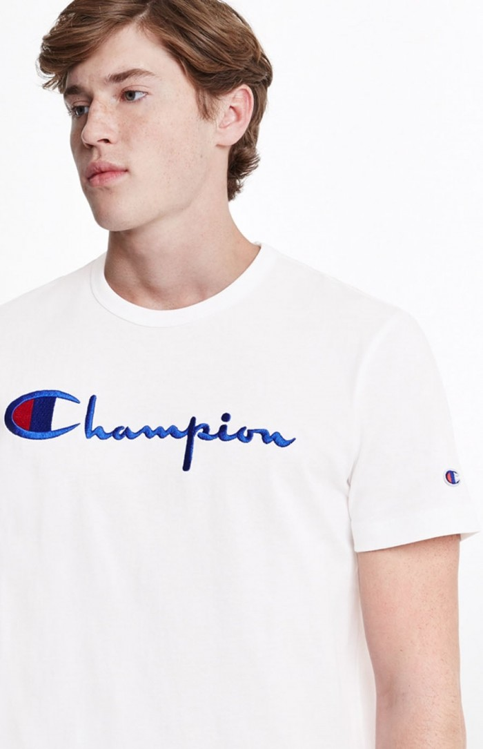 T-shirt Champion big logo Crewneck 210972 BS501 WW001 White Europe Limited Edition