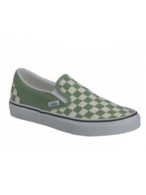 Basket Vans Classic slip-on Checkerboard Shale Green true white VN0A33TB43B1