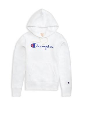 Sweatshirt Champion Europe Hooded wmns big logo 111555 WW001 WHT