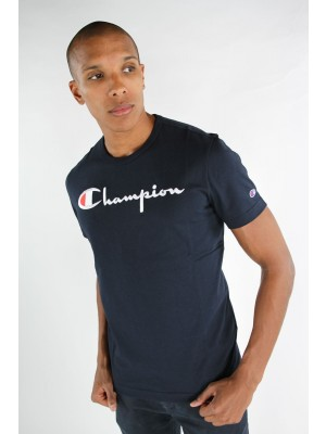 Champion Europe T-shirt big logo Crewneck 210972 BS501 NNY navy Limited Edition (apparel)