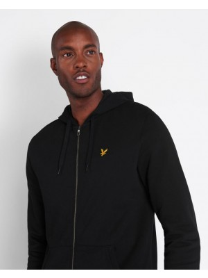 Lyle & Scott ML420VTR Z865 zip through hoodie jet black