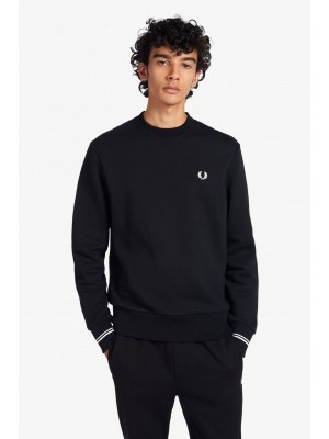 Fred Perry crew neck sweatshirt M7535 184 black