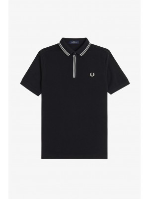 Fred Perry M8559 184 Tipped placket polo shirt black