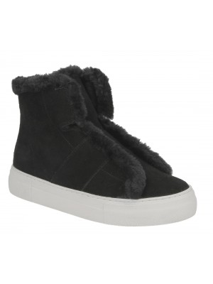 Basket DKNY  Mason High Top SNE K3899353 cow suede black black color Noir
