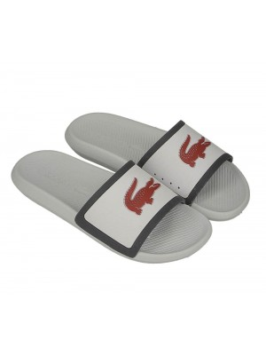 Lacoste Homme Croco Slide Tri3 Cma Wht Nvy Red