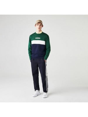Sweatshirt Lacoste SH1538 6BE Vert Marine Blanc