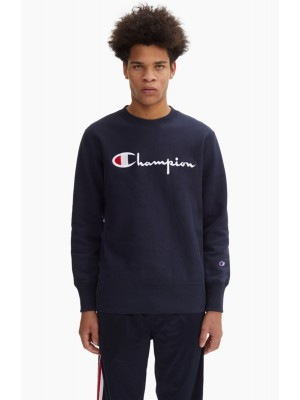 Sweatshirt Champion Europe crewneck big logo 212576 S19 BS501 NNY navy