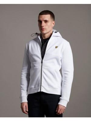 Sweatshirt Lyle & Scott ML1314V 626 Softshell jersey zip hoodie white