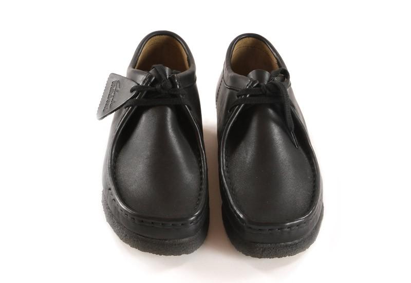 leather black smooth vente ligne Originals Clarks en Wallabee aCUxgT7q