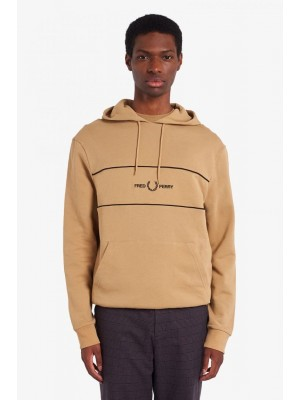 Fred Perry Emb Panel Hooded Sweatshirt Warm Stone m9591 363