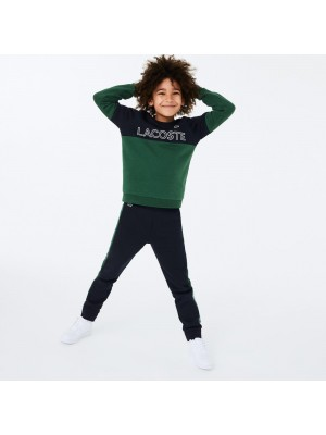 Sweatshirt Junior Lacoste SJ1159 ELT Abimes Vert Blanc