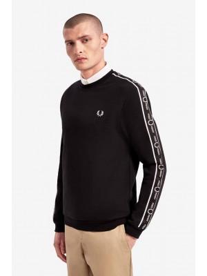 Fred Perry taped shoulder sweatshirt black M7538 102