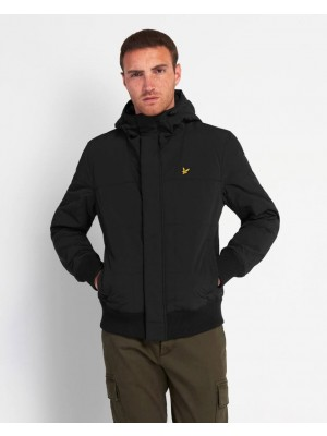 Lyle & Scott JK1313V Z865 quilted bomber jacket Jet Black