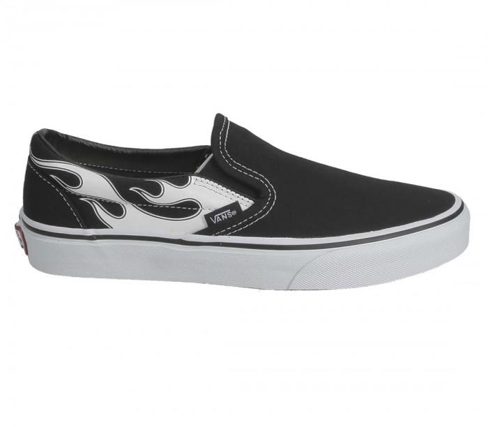 Basket Vans Classic Slip-On Flame Black White VN0A33TBK681