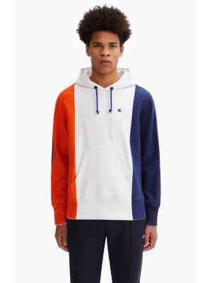 Sweatshirt Champion Europe hooded 213242 S19 WW001 WHT tricolore