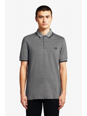 Polo Fred Perry Twin Tipped Anchblkox Black M3600 J77