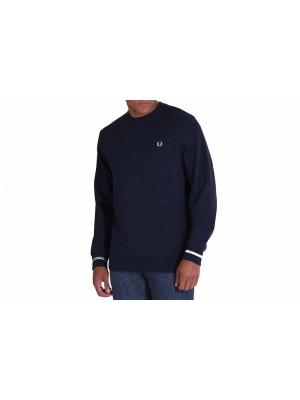 Sweatshirt Fred Perry Crew Neck Navy M7535 608