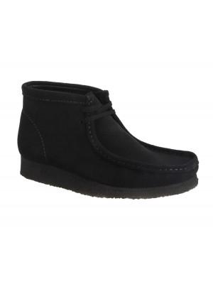 Bottines Clarks Originals Wallabee Boot black suede 26133281