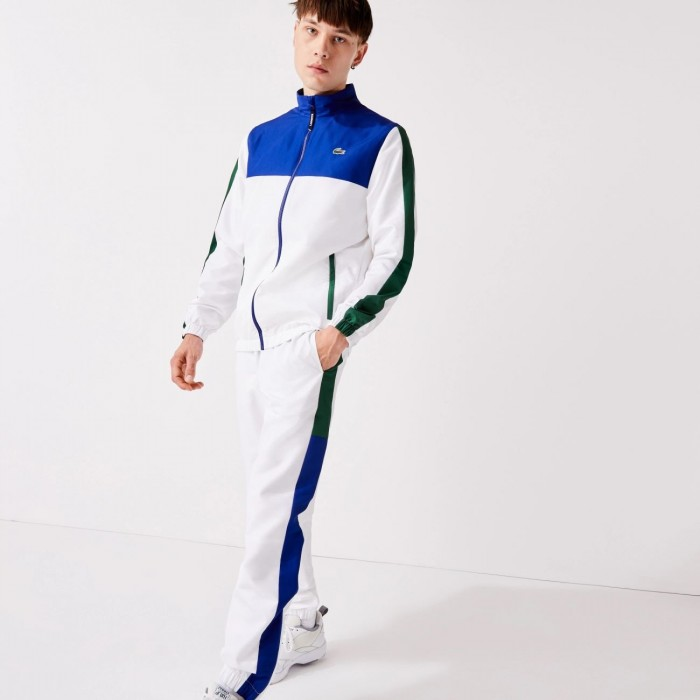 Survêtement Lacoste WH2104 GKP Bleu Blanc Vert