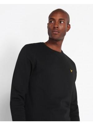 Sweatshirt Lyle & Scott Crew Neck Jet Black ML424VTR Z865