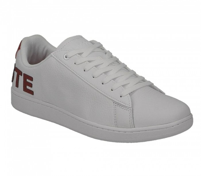 Lacoste Carnaby Evo 120 7 Us Sma Wht Red