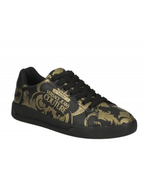 Basket Versace Jeans Couture Homme E0YZBSH4 Linea Fondo Brad Dis.31 71778 M27 Logo Baroque Black Gold