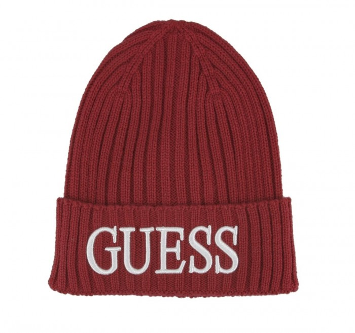 Bonnet Guess Logo Brodé AM8724 WOL01 Red