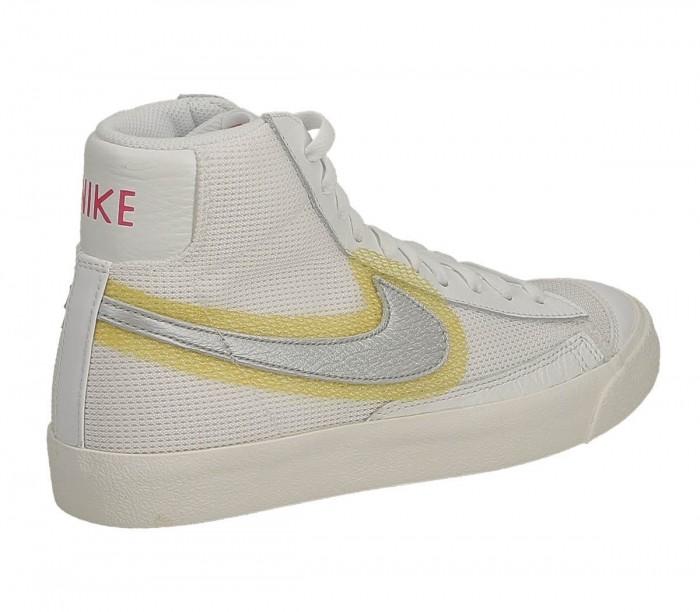 Basket dame Nike Blazer Mid Vntg 77 CZ8105 100 White Metallic Silver