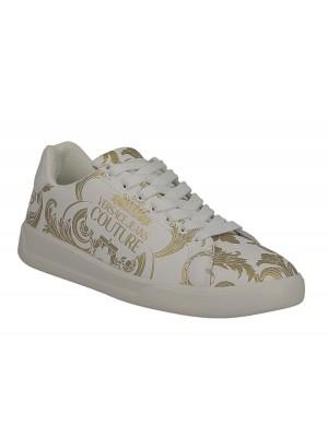 Basket Versace Jeans Couture Homme E0YZBSH4 Linea Fondo Brad Dis. 31 71778 MCI Imprimé Baroque blanc or