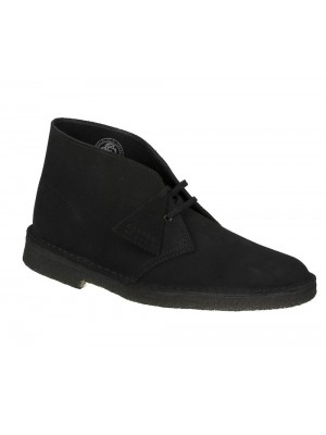 Bottines Clarks Originals Desert Boot Black Suede 26138227