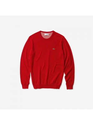 Pull Lacoste AH3467 azc rouge farine rouge