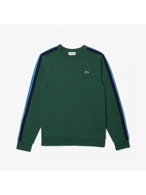 Sweatshirt Lacoste SH1556 DJ9 Vert Argent Chine Ultrama
