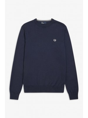 Pull Fred Perry Classic Crew Neck Deep Carbon K5523 E97