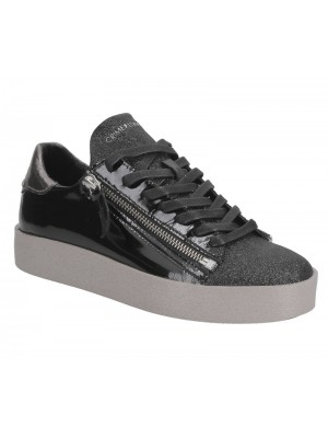 Crime London Sneaker Low platform black patent 25923A17 20