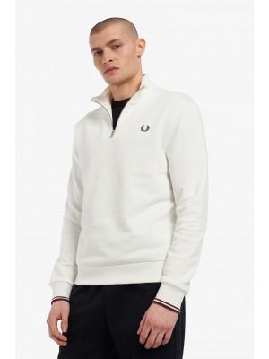 Sweatshirt Demi Zippé Fred Perry M1708 129 Snow White