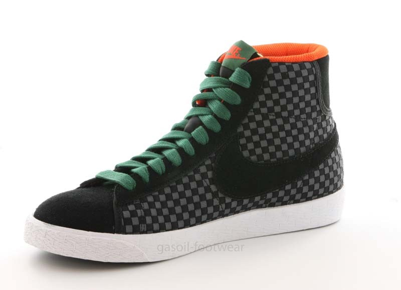new york casual shoes wholesale sales Nike Blazer mid woven black & gorge green 555093 001 vente ...
