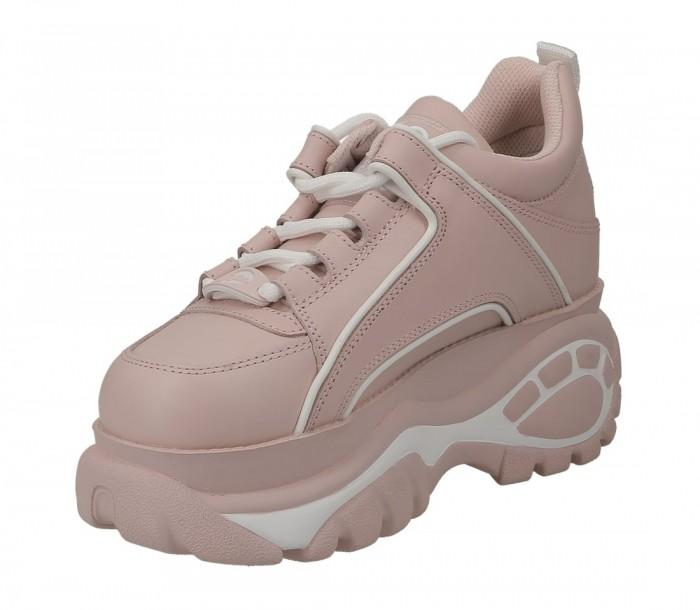 Buffalo London Plateau low baby pink nappa leather 1533063 1339 14 2 0