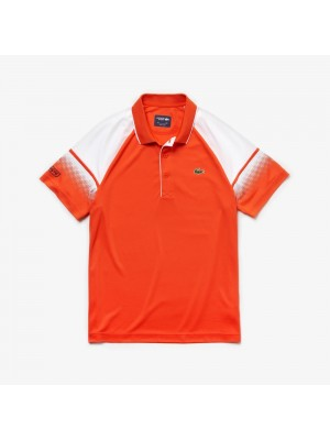 Polo Lacoste DH3466 JP8 Rouge Blanc Marine
