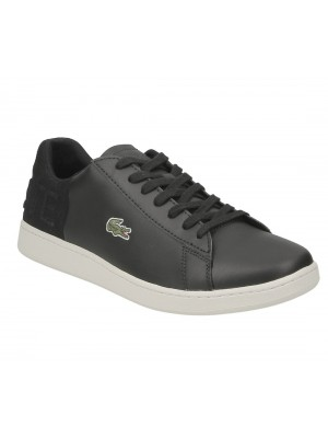 Lacoste Carnaby Evo 418 1 Spm Blk Off Wht leather suede