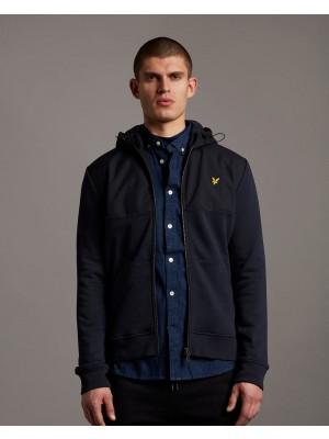 Sweatshirt Lyle &Scott ML1314V Z271 softshell jersey zip hoodie dark navy